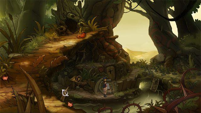 Trafisz do domu krasnoludów, który jest opuszczony - Przygoda w Mysiborze - Solucja - The Night of the Rabbit - poradnik do gry