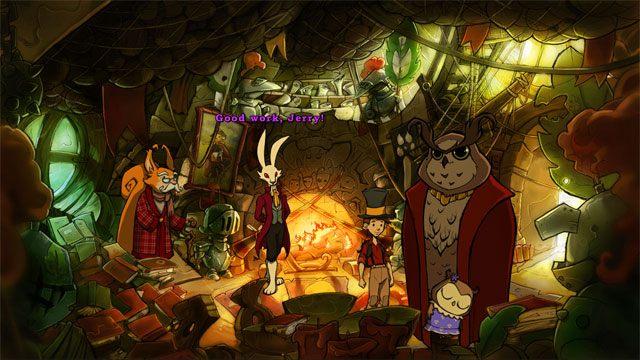 Idź do ratusza i przekaż Urszulę Konradowi - Przygoda w Mysiborze - Solucja - The Night of the Rabbit - poradnik do gry