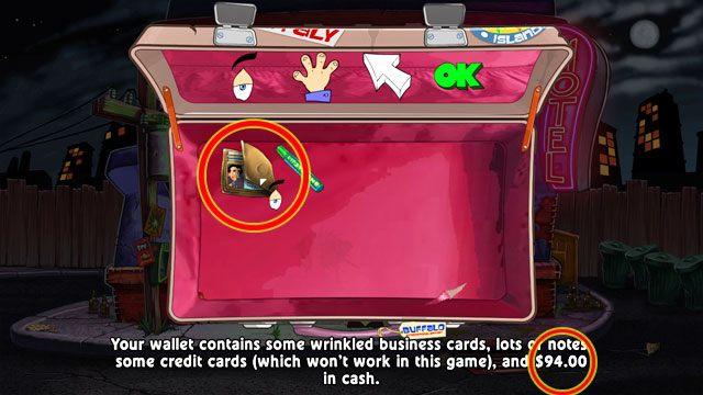 Grę rozpoczynasz mając w portfelu nieco poniżej $100 - Pieniądze i hazard - Elementy gry - Leisure Suit Larry: Reloaded - poradnik do gry