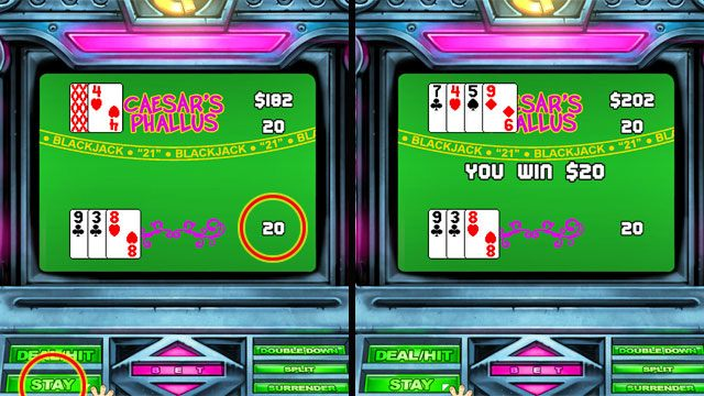 Jednak jest to rzadkość - Pieniądze i hazard - Elementy gry - Leisure Suit Larry: Reloaded - poradnik do gry