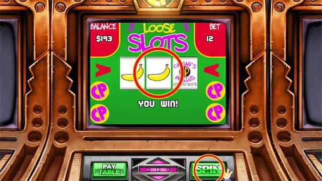 To automaty na zasadzie jednorękiego bandyty, gdzie po zagraniu musi ci wypaść dany układ symboli - Pieniądze i hazard - Elementy gry - Leisure Suit Larry: Reloaded - poradnik do gry