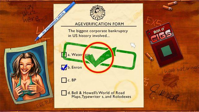 Je�li chcesz kontynuowa� musisz wiedzie�, �e dwukrotna skucha i wracasz do menu g��wnego - Pocz�tek - Solucja - Leisure Suit Larry: Reloaded - poradnik do gry