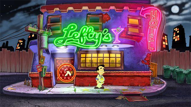 Rozpoczynasz grę przed barem Lefty's - 1. Panienka - Solucja - Leisure Suit Larry: Reloaded - poradnik do gry