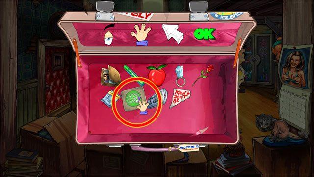 Otw�rz ekwipunek, wybierz kursor u�yj i kliknij nim na karcie baru Lefty's - 1. Panienka - Solucja - Leisure Suit Larry: Reloaded - poradnik do gry