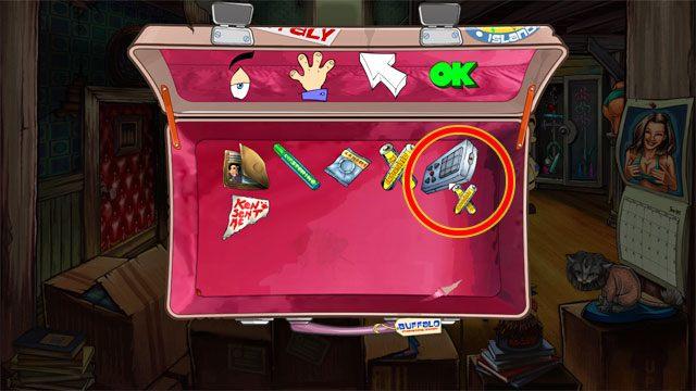 Następnie kliknij na baterie strzałką, a potem kliknij nimi na pilocie do telewizora - 1. Panienka - Solucja - Leisure Suit Larry: Reloaded - poradnik do gry
