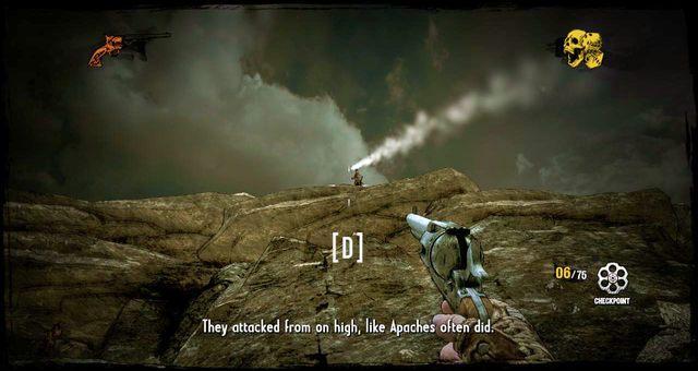 Apacze atakujący ze skał - 3 - A Bullet for the Old Man - Solucja - Call of Juarez: Gunslinger - poradnik do gry