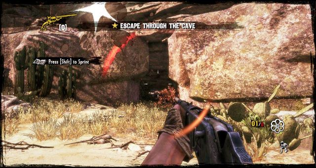 Ucieczka do jaskini - 3 - A Bullet for the Old Man - Solucja - Call of Juarez: Gunslinger - poradnik do gry