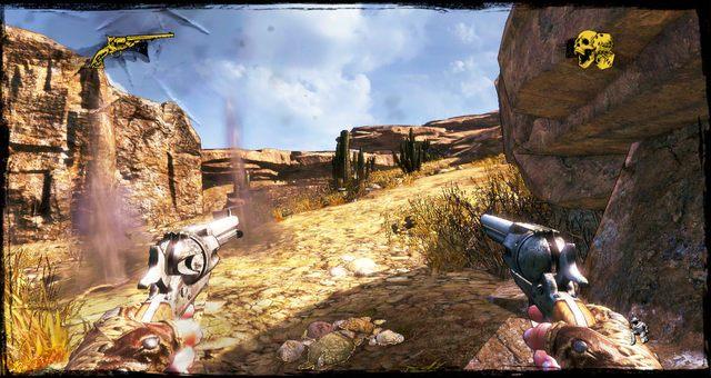 Za takimi osłonami należy się chować - 3 - A Bullet for the Old Man - Solucja - Call of Juarez: Gunslinger - poradnik do gry