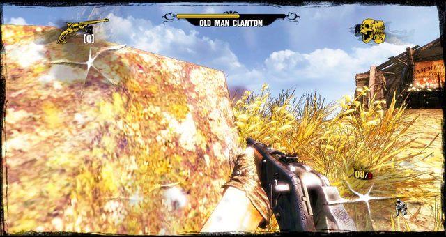 Zajście Clantona od tyłu - 3 - A Bullet for the Old Man - Solucja - Call of Juarez: Gunslinger - poradnik do gry