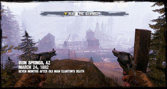 Początek misji w Tartaku - 4 - Gunfight at the Sawmill - Solucja - Call of Juarez: Gunslinger - poradnik do gry