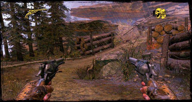 Droga po walce pomiędzy stosami pali - 4 - Gunfight at the Sawmill - Solucja - Call of Juarez: Gunslinger - poradnik do gry