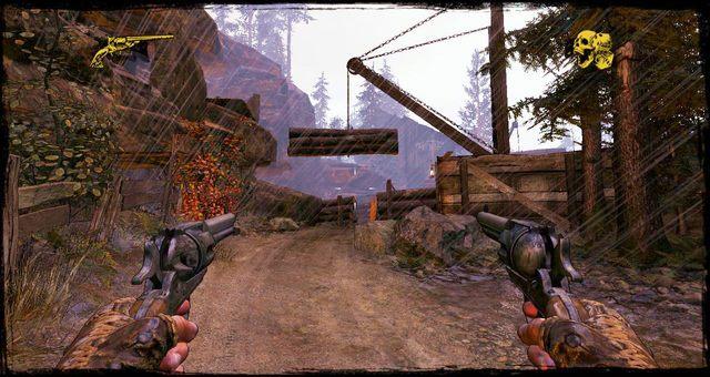 Pale zawieszone nad drogą - 4 - Gunfight at the Sawmill - Solucja - Call of Juarez: Gunslinger - poradnik do gry