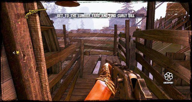 Drewniany most między budynkami - 4 - Gunfight at the Sawmill - Solucja - Call of Juarez: Gunslinger - poradnik do gry
