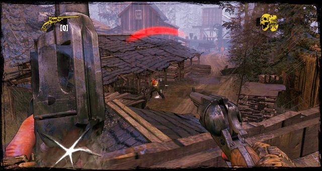 Strzelanina w przy składzie drewna - 4 - Gunfight at the Sawmill - Solucja - Call of Juarez: Gunslinger - poradnik do gry