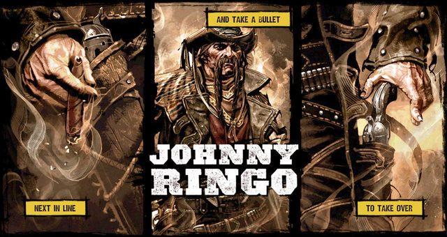 Nie jest to jednak koniec misji, ponieważ po tej walce czeka cię jeszcze pojedynek z Johnym Ringo (na obrazku) - 4 - Gunfight at the Sawmill - Solucja - Call of Juarez: Gunslinger - poradnik do gry