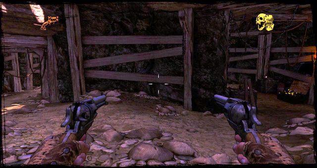Poboczna kopalnia, po prawej skrzynka z amunicją - 5 - The Magnificent One - Solucja - Call of Juarez: Gunslinger - poradnik do gry