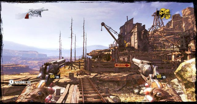 Widok na magazyny dookoła kopalni - 5 - The Magnificent One - Solucja - Call of Juarez: Gunslinger - poradnik do gry