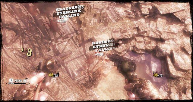 Walka w powietrzu za pomocą minigry - 5 - The Magnificent One - Solucja - Call of Juarez: Gunslinger - poradnik do gry