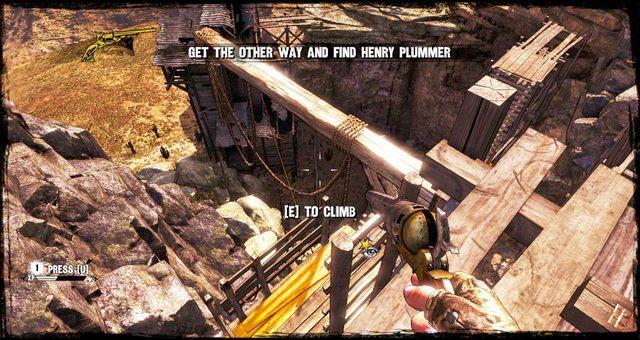 Drabina na moście na którym pojawisz się po odrodzeniu - 5 - The Magnificent One - Solucja - Call of Juarez: Gunslinger - poradnik do gry