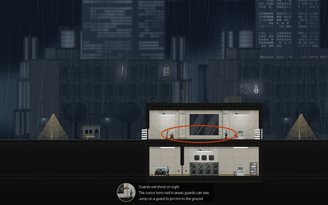 W kolejnej misji pojawisz się zaraz obok niedużego budynku, a w środku zauważysz dwóch Normal Guardów - #2 - Rooke - Guarded - Opis przejścia - Gunpoint - poradnik do gry