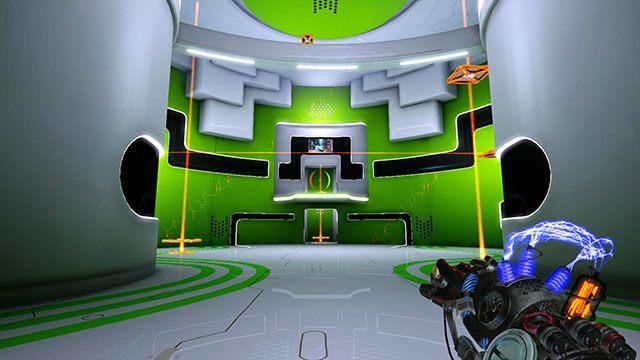 Po wejściu do głównej sali, skieruj się do platformy widocznej po lewej na powyższym obrazku - Intermediate Platform - Akt I - Magrunner: Dark Pulse - poradnik do gry