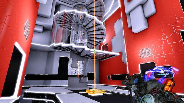 Po wejściu do pomieszczenia, skieruj się w stronę platform znajdujących się na środku sali (obrazek powyżej) - Advanced Platform - Akt I - Magrunner: Dark Pulse - poradnik do gry