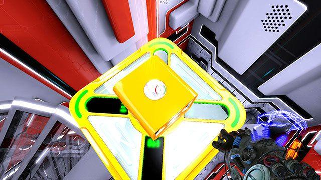 Postać przelatuje przez przezroczystą powierzchnię na której stoi druga kostka - Advanced Platform - Akt I - Magrunner: Dark Pulse - poradnik do gry