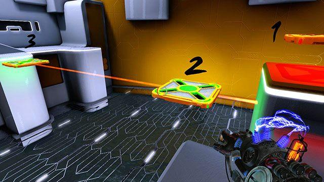Zmień ładunek drugiej platformy na zielony - Platform Test - Akt I - Magrunner: Dark Pulse - poradnik do gry