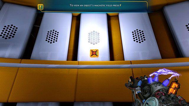 Nie pomyl ładunków, bo moduł odepchnie Cię zamiast przyciągnąć - Platform Test - Akt I - Magrunner: Dark Pulse - poradnik do gry