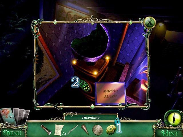 Używamy Gear [1] na szafce [2], po czym zabieramy z szuflady Gold Lockpicks oraz część kodu - Muzeum - Solucja - 9 Poszlak: Tajemnica Serpent Creek - poradnik do gry