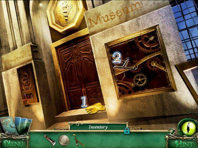 Podchodzimy do okna i używamy Ritual sickle na drabinie - Muzeum - Solucja - 9 Poszlak: Tajemnica Serpent Creek - poradnik do gry
