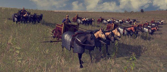 Zwierzęta te, podobnie jak rydwany, służą przełamywaniu szyków wroga, lecz w przeciwieństwie do maszyn wojennych potrafią one znacznie dłużej utrzymać się w walce wręcz - Jednostki lądowe - Wojsko - Total War: Rome II - poradnik do gry