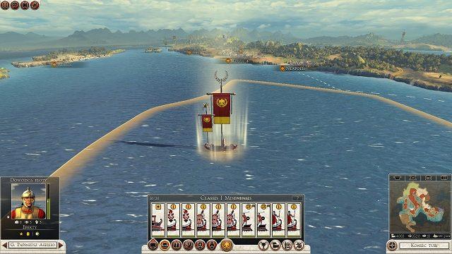 Większa flaga oznacza siłę floty, mniejsza - transportowanej armii. - Flota, transport drogą morską - Wojsko - Total War: Rome II - poradnik do gry