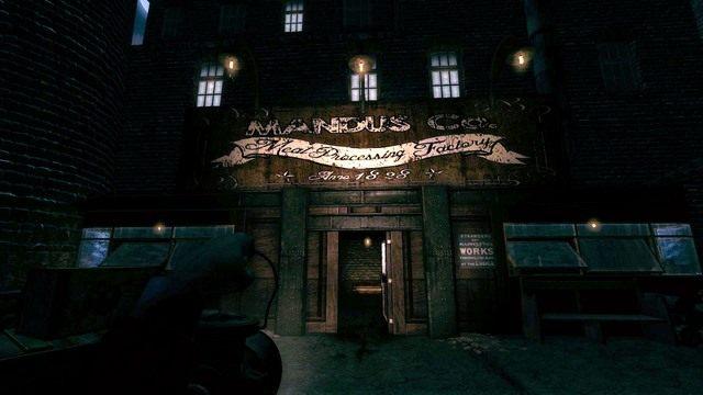 Wejście do fabryki. - Fabryka - Amnesia: A Machine for Pigs - poradnik do gry