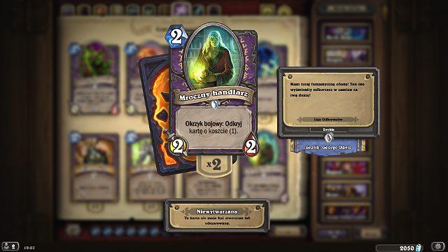 Okrzyk bojowy: Odkryj daje Ci możliwość odkrycia przykładowo 3 kart o koszcie 1 many z których będziesz mógł/ła dobrać jedną na rękę i natychmiast jej użyć, jeśli tylko zajdzie taka potrzeba - Okrzyk bojowy: Odkryj   Zdolności - Hearthstone: Heroes of Warcraft - porady i polecane decki