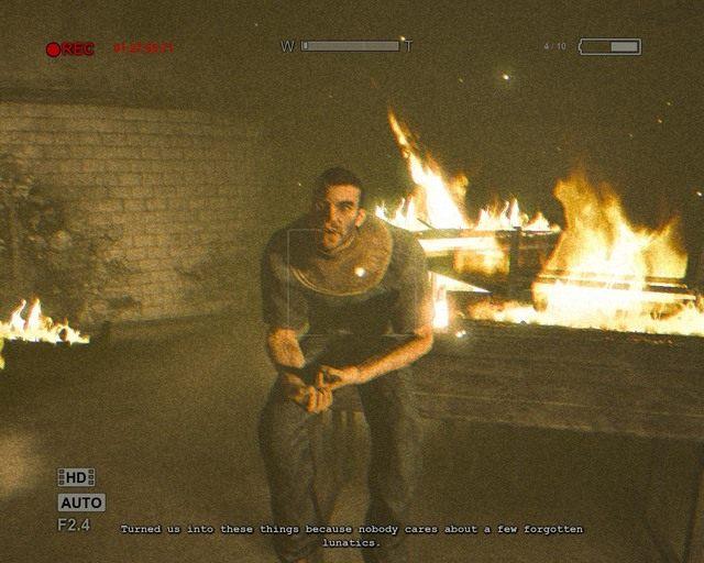 Sprawca całego pożaru, on chce po prostu umrzeć - Male Ward - Solucja - Outlast - poradnik do gry