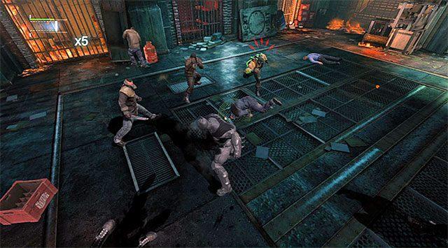 Unikaj szarż opancerzonego przeciwnika - Uzyskaj dostęp do serwerów policji - powrót do serwerowni - Główny wątek - Batman: Arkham Origins - poradnik do gry