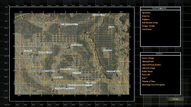Mapa Arizony - Poruszanie się po świecie Wasteland | Eksploracja - Wasteland 2 - poradnik do gry