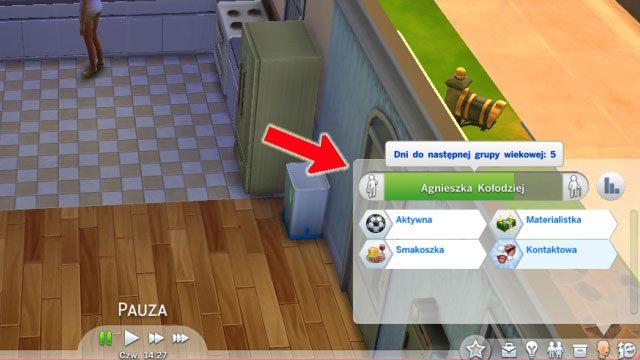 W grze każdy nowo-narodzony Sim przechodzi przez 6 kolejnych etapów życia: niemowlę, dziecko, nastolatek, młody dorosły, dorosły, senior - Wiek | Życie Sima - The Sims 4 - poradnik do gry