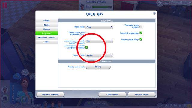 Upływem czasu możesz dowolnie sterować w opcjach gry w zakładce Rozgrywka - Wiek | Życie Sima - The Sims 4 - poradnik do gry