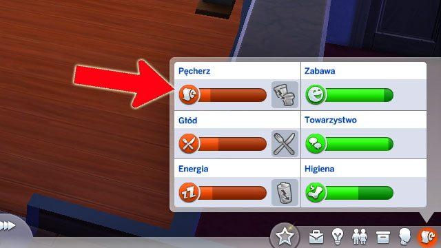 Bardzo ważnym elementem, nad którym cały czas musisz czuwać są potrzeby Simów (widoczne z ostatniej zakładce w prawym dolnym rogu ekranu) - Potrzeby | Życie Sima w Sims 4 - The Sims 4 - poradnik do gry