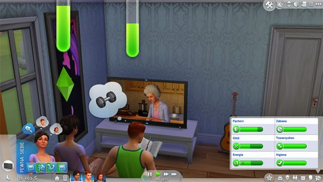 Zaspokajanie tej potrzeby jest możliwe na wiele sposobów - Potrzeby | Życie Sima w Sims 4 - The Sims 4 - poradnik do gry