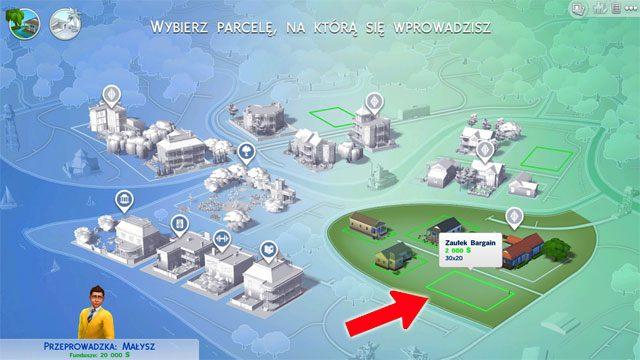 Możesz zdecydować się na zakup jednej z pustych działek - Wprowadzenie rodziny - Dom Sima - The Sims 4 - poradnik do gry