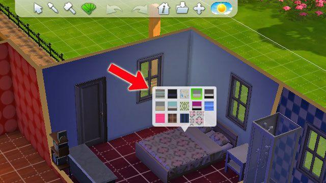 Narzędzie projektowania umożliwia zmianę wzoru zakupionej rzeczy np - Budowanie domu - Dom Sima - The Sims 4 - poradnik do gry