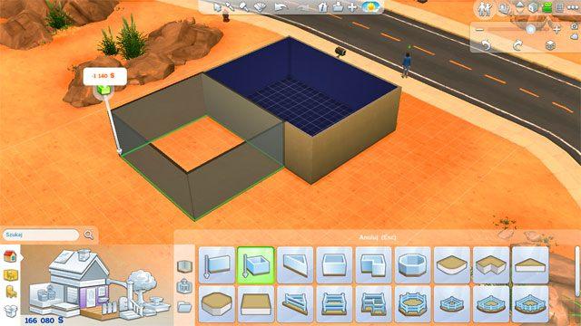 Kolejne narzędzie umożliwia stawianie ścian w kształcie prostokąta/kwadratu, stanowiących gotową bazę pod jedno z pomieszczeń - Budowanie domu - Dom Sima - The Sims 4 - poradnik do gry