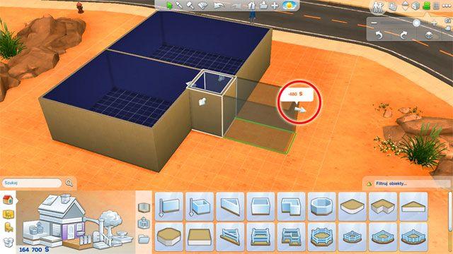 Bardziej wyrafinowane narzędzia znajdują się pod kolejnymi ikonkami na panelu - Budowanie domu - Dom Sima - The Sims 4 - poradnik do gry