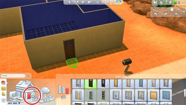 Umieść drzwi wejściowe, a także drzwi pomiędzy poszczególnymi pomieszczeniami - Budowanie domu - Dom Sima - The Sims 4 - poradnik do gry