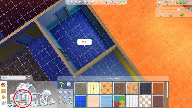 To samo zrób w przypadku podłóg - Budowanie domu - Dom Sima - The Sims 4 - poradnik do gry