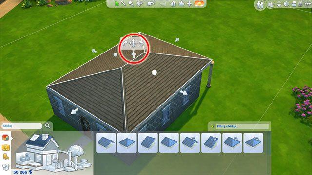 Możesz także zmienić jego wysokość korzystając ze środkowej strzałki - Budowanie domu - Dom Sima - The Sims 4 - poradnik do gry