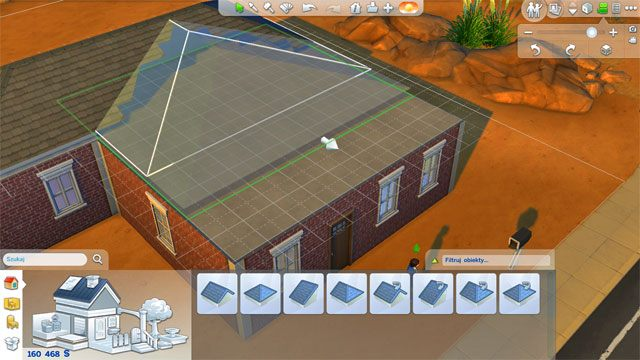 Jeśli kształt domu jest nieregularny dach stworzysz w dwóch lub więcej etapach (musi być łamany) - Budowanie domu - Dom Sima - The Sims 4 - poradnik do gry
